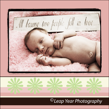 Newborn birth announcement